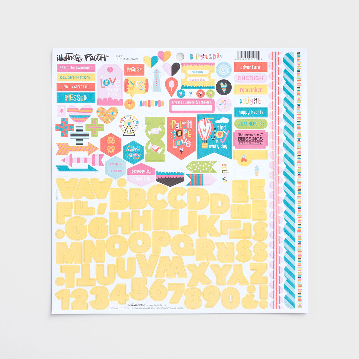 Illustrated Faith - Delight in His Day - 121-Piece Cardstock Stickers