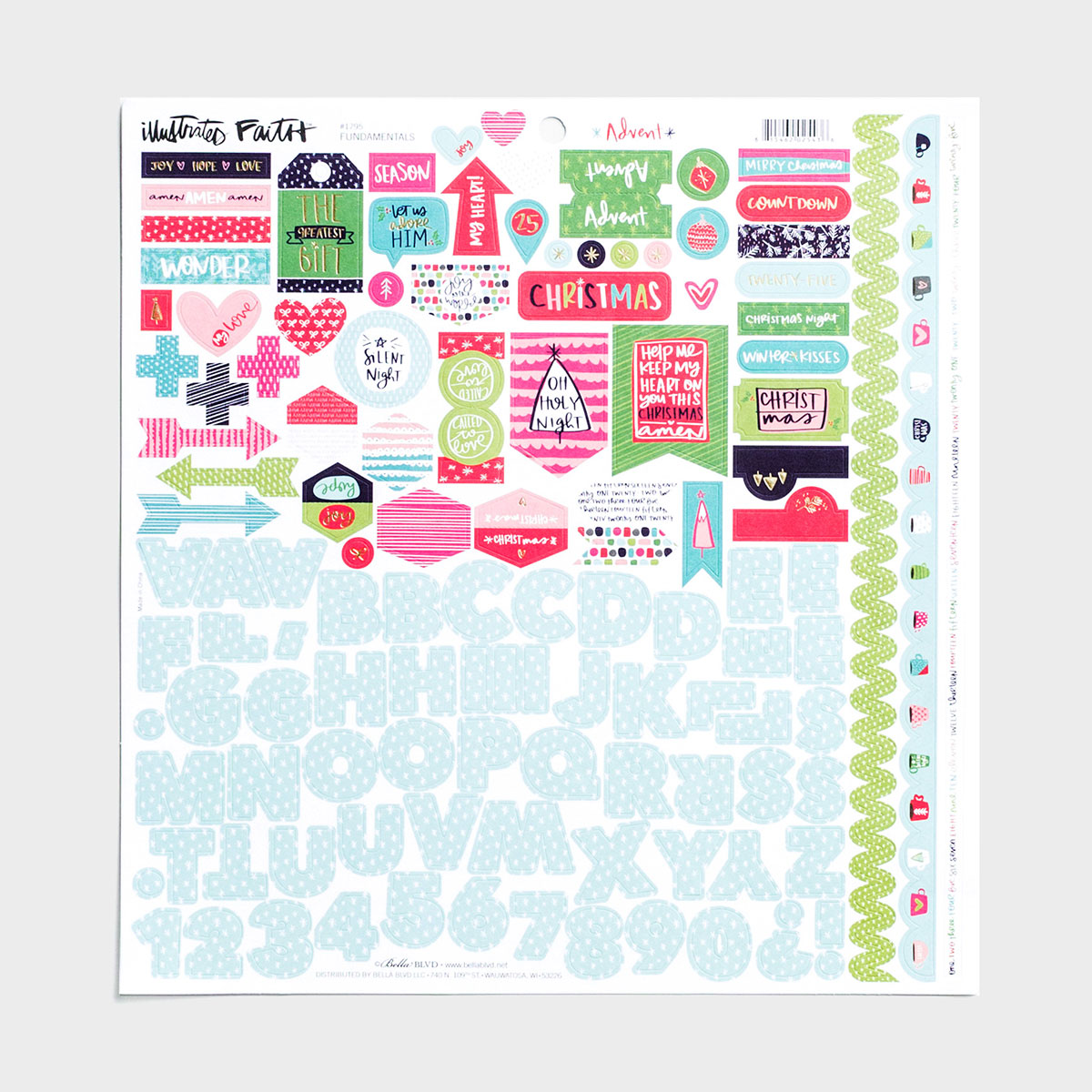 Illustrated Faith - Advent - Fundamentals - 121-Piece Cardstock Stickers