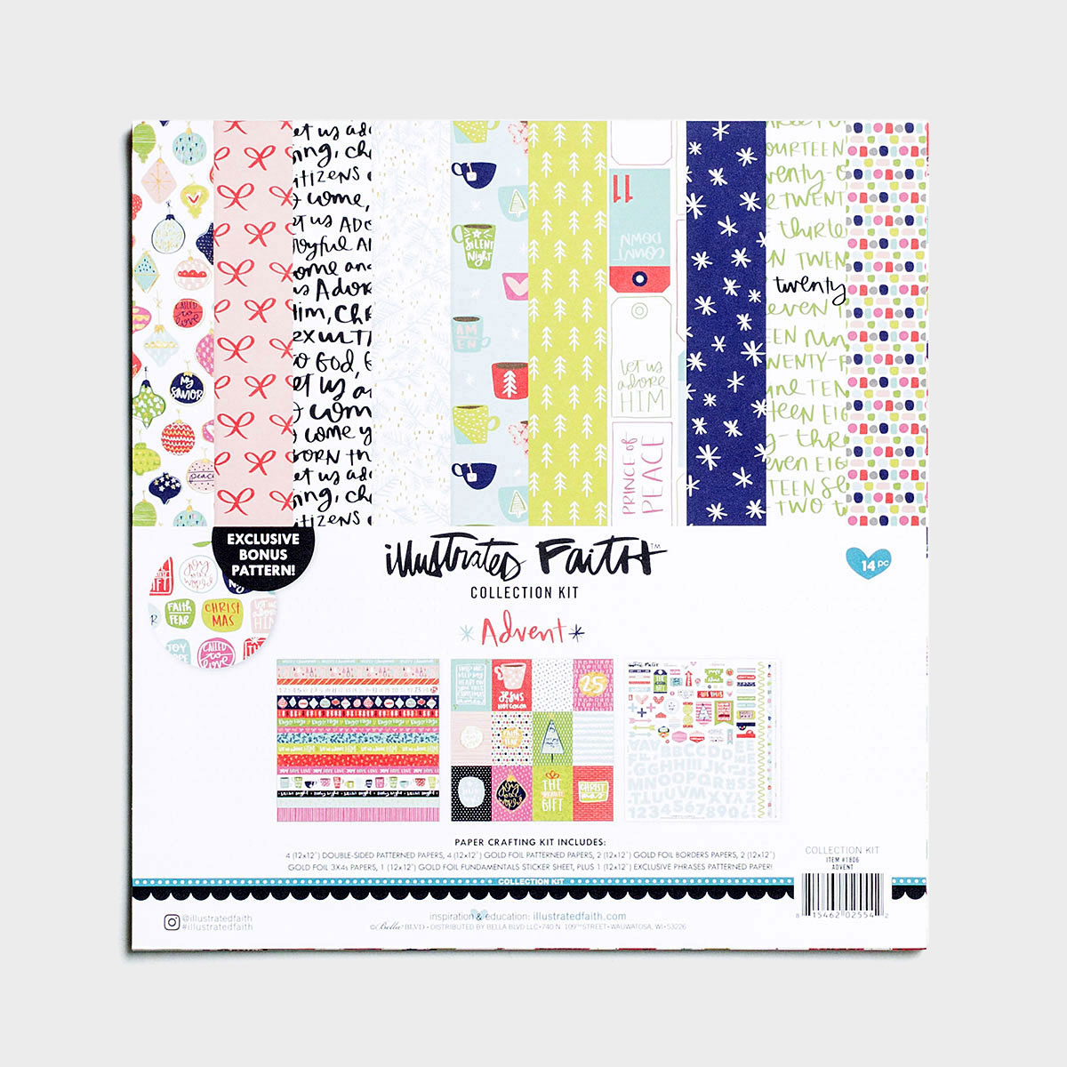 Illustrated Faith - Advent Collection, Set of 14 Sheets