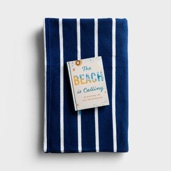 The Beach Is Calling Devotional & Beach Towel - Gift Set