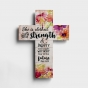She Is Clothed with Strength & Dignity - Wooden Cross
