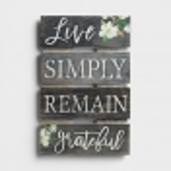 Live Simply - Plank Wall Art