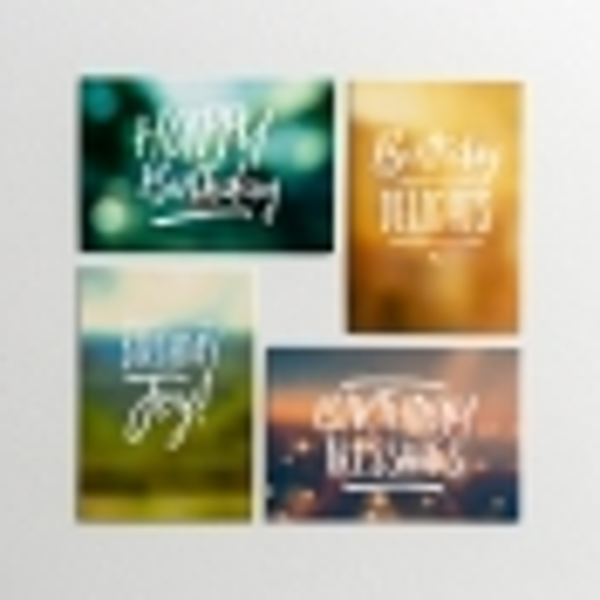 Birthday - KJV - Bundle of 6 Boxed Cards