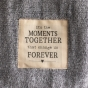 Family Moments Together - Large Fleece Gray Blanket