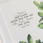 Serve the Lord with Joy - Botanical Framed Wall Art