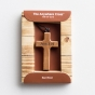 For God So Loved the World - Small Wooden Hanging Cross with Cord