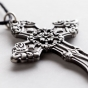 The Lord Will Protect - Small Metal Hanging Cross with Cord