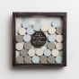 Love and Grace - Wood & Glass Guest Shadow Box Plaque with Wooden Coins
