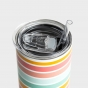 Skinny Stainless Tumbler with Lid and Straw, 20oz - Swept Away