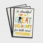 Ministry Appreciation - Children's Ministry - Great Big Heart - 3 Premium Cards