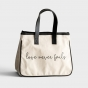 Mini Canvas Tote Bag - Love Never Fails