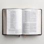 NIV Life Application Study Bible, Third Edition - Navy Floral