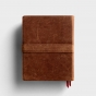 CSB Legacy Notetaking Bible - Tan Genuine Leather with Strap