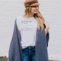This Candace Cameron Bure white inspirational T-shirt, brought to you by DaySpring, carrries the anthem 'Inpowered Woman'—n. A woman who derives her strength from God's limitless power within her. [See Phil. 4:13]—a powerful message to remember.