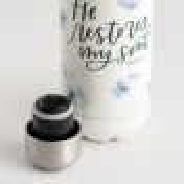 Studio 71 - He Restores My Soul - Stainless Steel Water Bottle