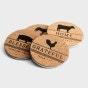Farm Faith - Cork & Metal Coasters, Set of 4