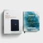 DaySpring Hope & Encouragement Navy Leatherlike Bible & 100 Days of Hope & Encouragement - Gift Set