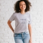 Candace Cameron Bure - Love Over All - Relaxed Fit T-Shirt - Heather Gray