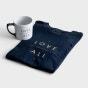 Love Over All - Mug and Navy T-Shirt - Gift Set