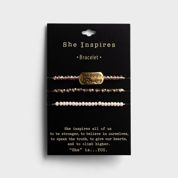 Choose Joy - Set of 3 Bracelets