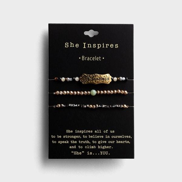Be Fearless - Set of 3 Bracelets