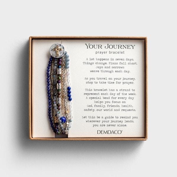 Your Journey Prayer Bracelet - Indigo