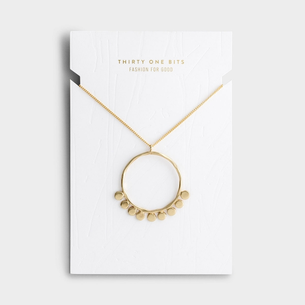 Pebble Pendant Necklace - Gold