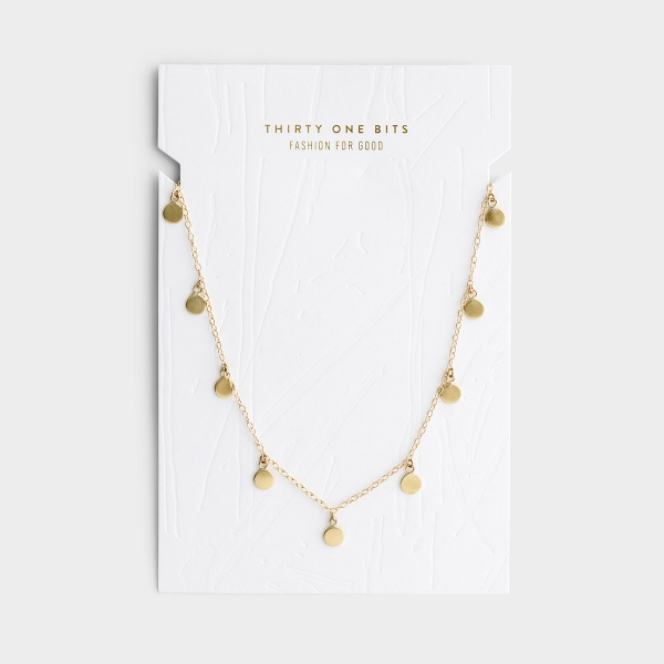 Dot Charm Necklace - Gold