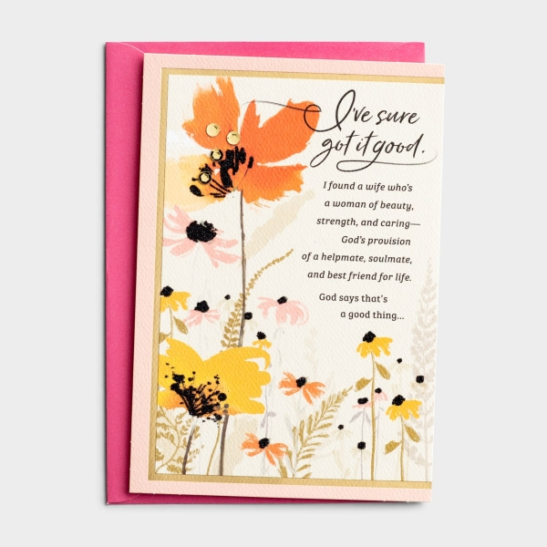 Birthday - Wife - Love On Your Birthday - 1 Premium Card