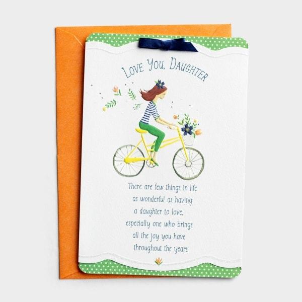 Birthday - Daughter - Bicycle - 1 Premium Card
