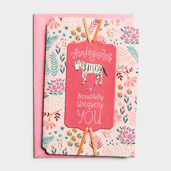 Birthday - Granddaughter - Uniquely You - 1 Premium Card