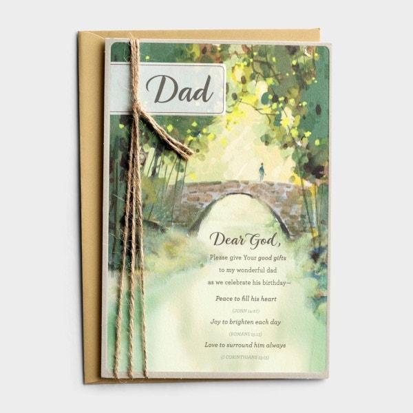 Birthday - Dad - Peace, Joy, Love - 1 Premium Card