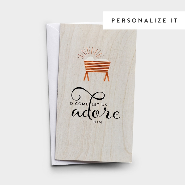 Little Inspirations - O Come Let Us Adore Him - 16 Christmas Boxed Cards, KJV