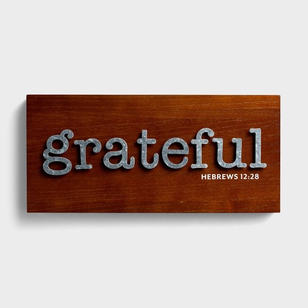 Grateful - Wood & Metal Wall Art