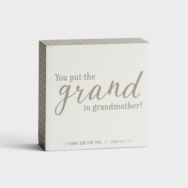 Grand Grandmother - Wooden Plaque