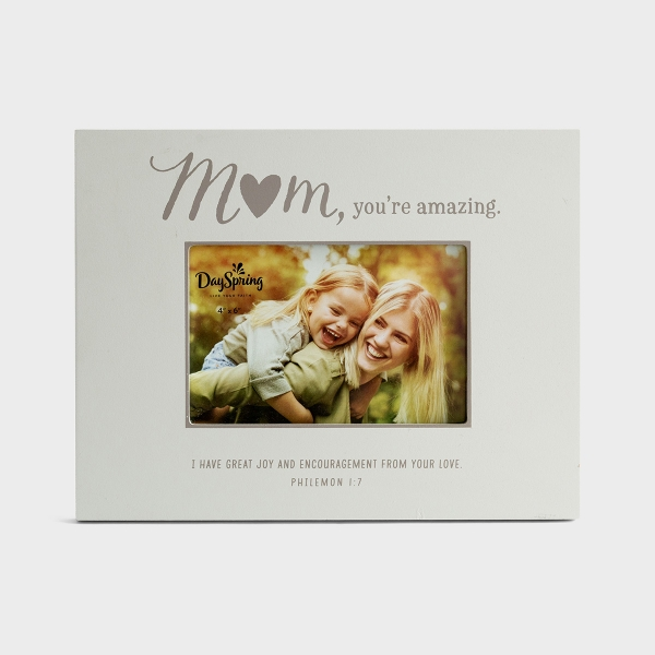 Mom, You're Amazing - Wooden Picture Frame
