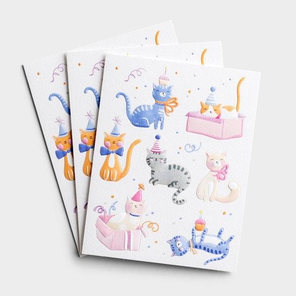 Birthday - Purr-fectly Delightful - 3 Premium Studio 71 Cards