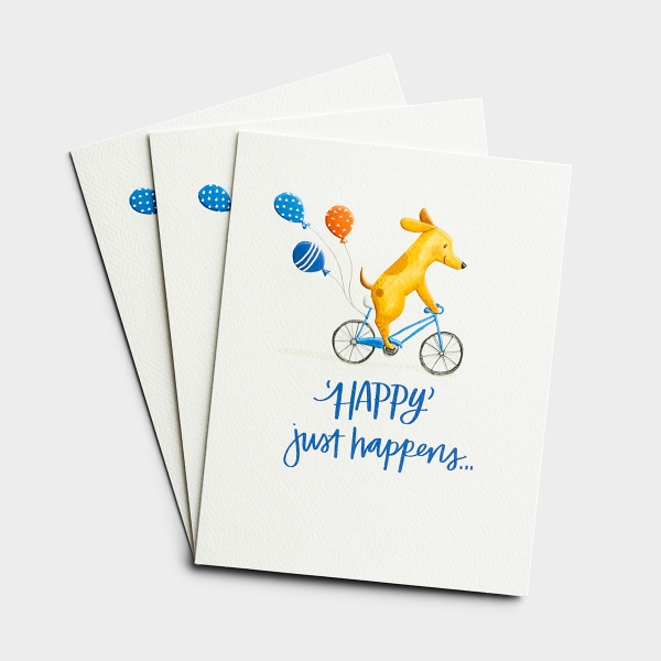 Birthday - Happy Just Happens - 3 Premium Studio 71 Cards