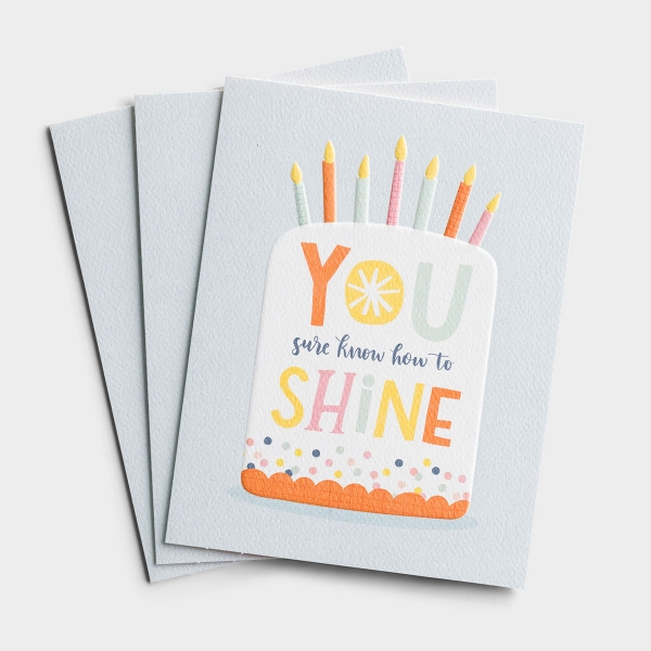 Birthday - You Shine - 3 Premium Studio 71 Cards