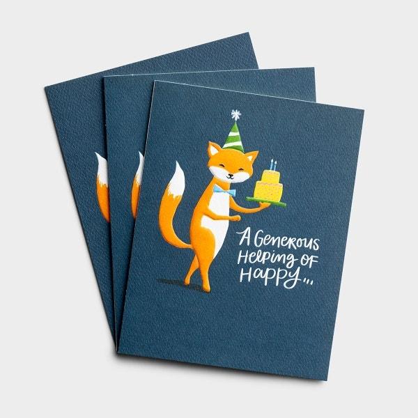 Birthday - A Generous Helping of Happy - 3 Premium Studio 71 Cards