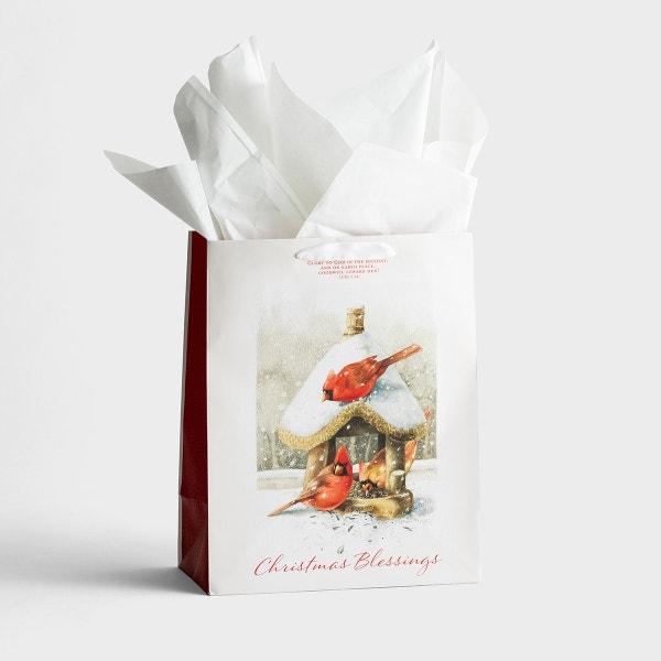 Nature's Blessings - Christmas Blessings - Large Christmas Gift Bag, KJV
