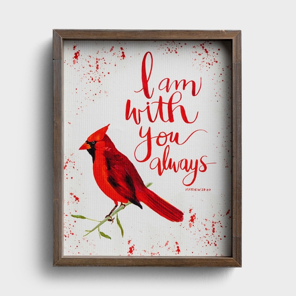 I Am With You Always - Framed Canvas Wall Art
