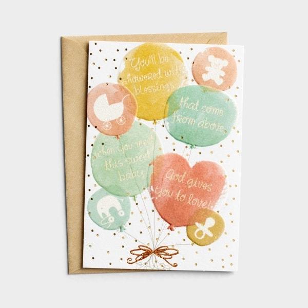 Baby - Baby Shower - Best Wishes - 1 Premium Card