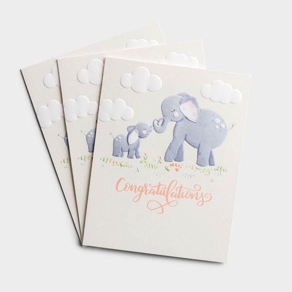 Celebrate God's little creations and honor the parents of a new baby with these precious, Christian baby cards! Studio 71 premium cards are carefully crafted by DaySpring artists and printed on Royal Sundance White Felt, 72 lb. card stock.