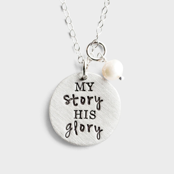 My Story His Glory - Pewter Pendant Necklace
