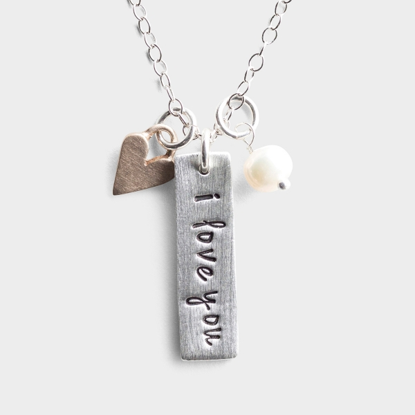 I Love You - Pewter Pendant Necklace