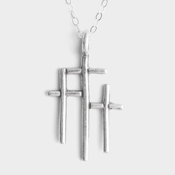 At the Cross - Sterling Silver Pendant Necklace