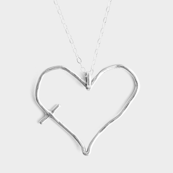 His Word in My Heart - Sterling Silver Pendant Necklace