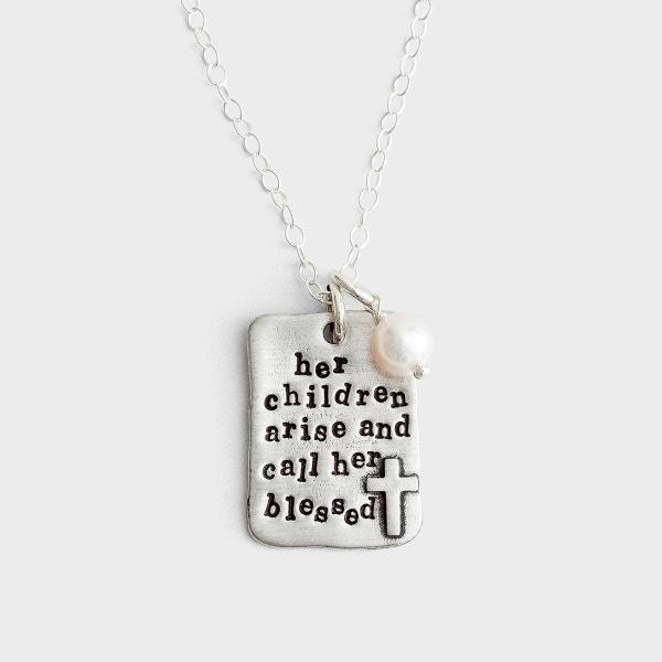 Her Children Arise - Pewter Pendant Necklace