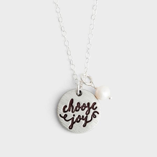 Choose Joy - Pewter Pendant Necklace